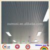 vertical suspended ceiling, powder coated metal strip ceiling panel