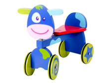 Wooden baby animal ride on toy car