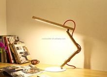 led wooden Table Lamps & Reading Lamps good quality touch sensitive dimmable handmade led indoor lightng