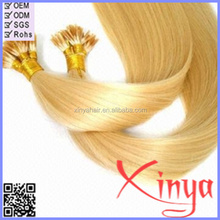 Cheap Peruvian remy human hair extensions i tip pre bonded hair