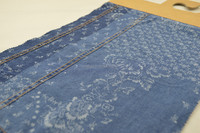 2015 english organic cotton plain indigo floral printed denim fabric for shirting
