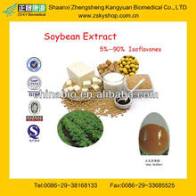 100% Pure Soybean Extract with 5%-95% Soy isoflavones