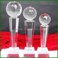 2016 Hot-sale Unique Diamond Top Crystal Trophy for Souvenir