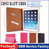Manufacturer High Quality Stand Function With Card Slots Smart Wallet Case for Mini Ipad,for ipad air,air2