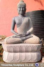 2015 hot sale garden decor marble large buddha statue for sale