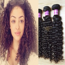 AAAAAA good feedback human hair extensions curly can ge wet malaysian virgin hair