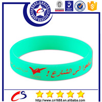 Hot selling cheap custom thin silicone bracelet making