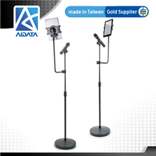 Adjustable Microphone Stand with Extended Tablet Mount