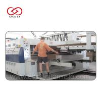 GIGA LX608 LX FGA Automatic Carton Box Making Machine Online With Folder Gluer Machine