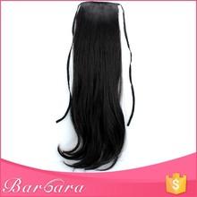 Barbara supply free sample fashion style top grade brazilian human hair drawstring ponytail