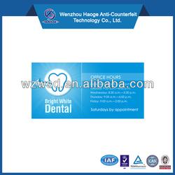 Custom die-cut tooth shape magnet, dental advertising fridge magnet