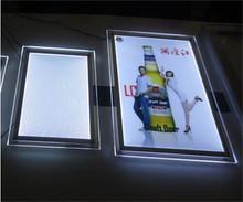 back light acrylic LED edge light poster frames