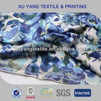 Warp knitting micro polyamide elastane fabric 2014 printed fabric for Australian Flower fashion design