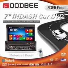 1 Din 7 inch indash car DVD player with GPS Navigation / Bluetooth / ISDB TV DVBT TV