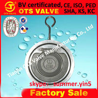 CV-SY-513 stainless steel 304 single disc wafer check valve with rubber seal