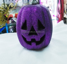 Most fashion halloween decor,artificial lighted pumpkins with funny face