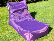 Purple EXTRA LONG SIZE OUTDOOR BEAN BAG STYLISH 'THE SUNLOUNGER' WATERPROOF