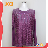 Fashion design muslim lady modern chiffon blouse