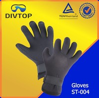 Diving Fabric Neoprene Black Gloves Manufacturer