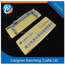 top design wonderful look metal name badge supplier in China with steady business experience and top skill for custom design