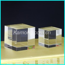 Factory supply for 3d laser engraved blank crystal cube