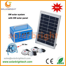 Solarbright portable small power solar energy mini rechargeable led home lighting mini complete mobile home solar panel system