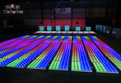 Colorful 60*60cm Cheap led dance floor for Wedding, Birthday party