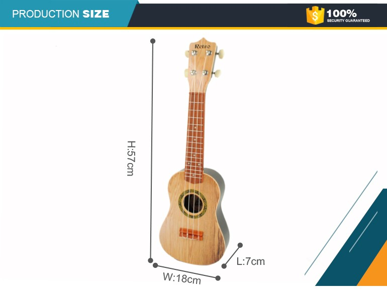 Novo 2017 ukulele loja online china cor de aprendizagem brinquedos de plástico para crianças