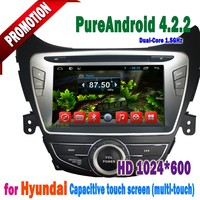 Hyundai Elantra 2012 2013 Touch Screen Double Din Car DVD Player Built In GPS Bluetooth Hand Free Call System