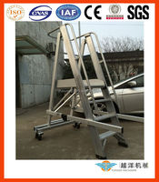 Aluminum Safety Step Ladder With Handrail