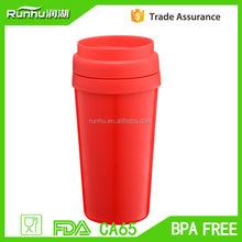 Fashion eco friendly various customized plastic coffee mug RH127-16