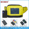 Waist bag for portable solar bag charger, promotion bag solar with 2200mah battery