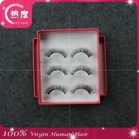 Wholesale Natural 100% Real Mink False Eye Lashes/ Mink Individual Fake Eyelashes Extensions For Makeup Free Shipping 2015*100