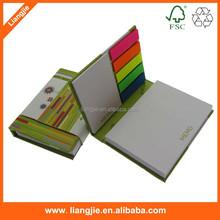 Logotipo personalizado promocional impresión de tapa dura de nota adhesiva libro