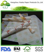 Wholesale Burger Wrap;Waterproof Hamburger Paper