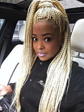 Top Fashion synthetic blonde braids wig