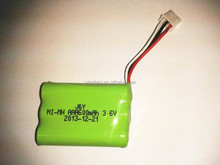 ni mh rechargeable battery pack aaa 600mah 3.6v