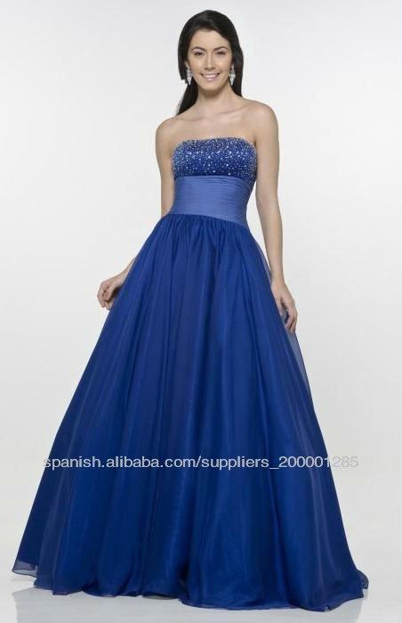 azul real vestidos de dama de honor