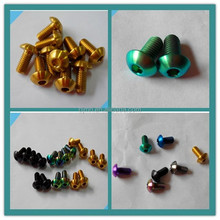 iso7380 anodized m5x8 titanium bolt for bicycles
