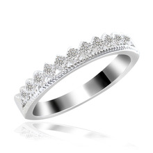 zircon full diamond crown ring Hot selling jewelry ring gold-plated European and American style
