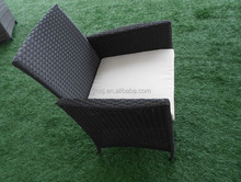 Hand Weave Leisure Outdoor Table and Chair Aluminum Frame 4 Pcs Sofa Set Rattan Garden Furniture
