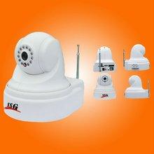 ip burglar alarm video camera sending alarm and video information to monitoring center after alarm accessories triggered