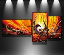 Hand-painted Group Wall Decor Art Modern Abstract Oil Painting On Canvas