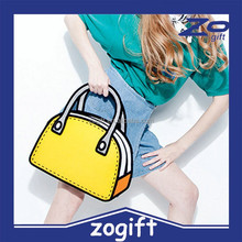 ZOGIFT New Design From paper 2D 3D cartoon messenger bag hot sell handbag tote bag