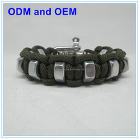 wholesale sports charms paracord bracelets supplies