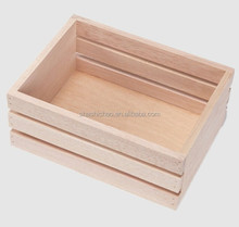 Customized design wooden fruit crates boxes for apple ,orange ,sea food by shanghai manufacturer