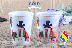 High Quality Low Price Promotion PP Cold Mug Customized Logo Printed Color Changing Plastic Cup