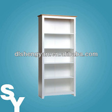 Hot Sale White Wooden Bookcase Design