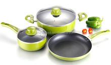 Aluminum 5pcs eco friendly hotel cookware