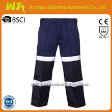 2015 newly waterproof bluehi vis mens work trousers safety pants /trousers